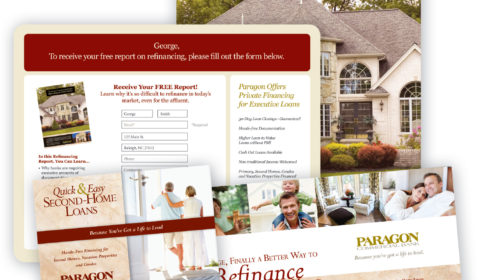 Paragon Bank Direct Mail Campaign with pURL