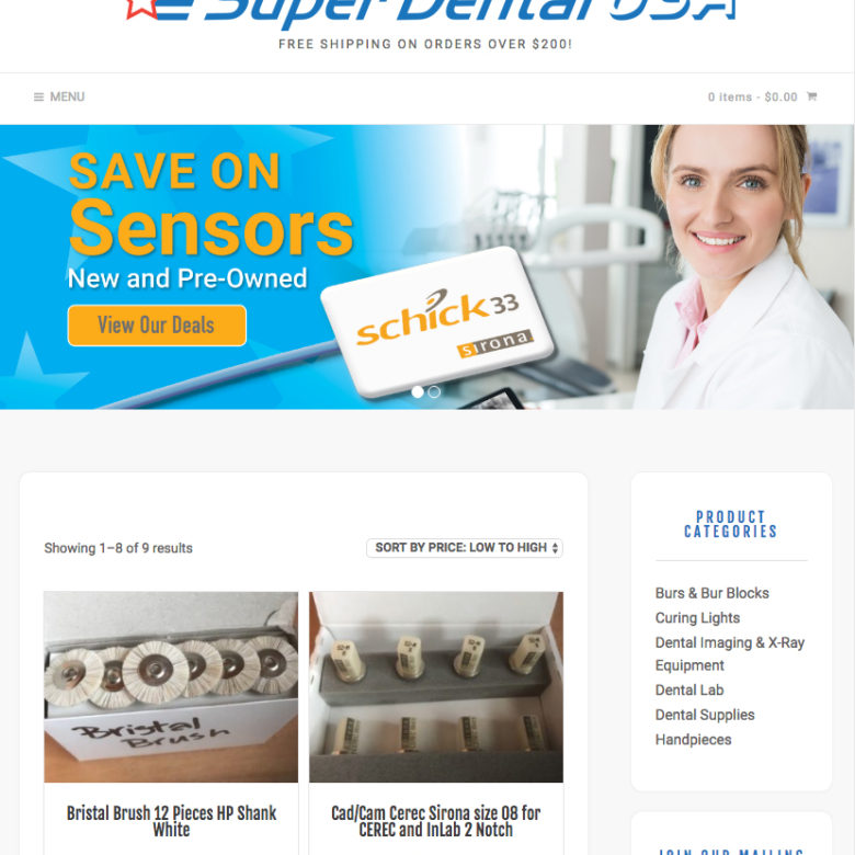 Super Dental USA Commerce Website